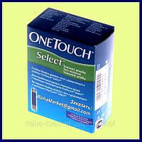 Тест-полоски OneTouch Select 25 шт. для использования с глюкометром OneTouch Select