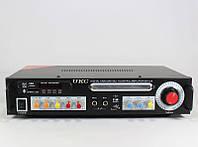 Звуковой усилитель AMP 123+BT, усилитель мощности звука + караоке на 2 микрофона