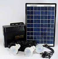 Система освещения с солнечной батареей GD 8012 (USB порт, 3 подвесные лампочки, USB кабель с переходниками)