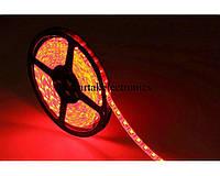 Светодиодная лента LED 3528 R 60 12V без силикона, led лента IP65 5 метров, красная led лента