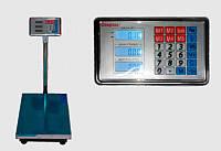 Торговые электронные весы ACS 150KG 40*50, напольные весы с железной головой и аккумулятором на 6V