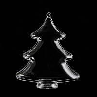 Пластиковая форма для декора Santi Ёлочка 10 см. 740882