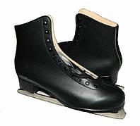 Коньки фигурные черные PVC (р-р 36,44,45,46,47)