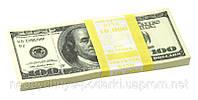 Пачка денег 100 долларов (сувенирные)