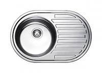 Fabiano Мойка кухонная стальная Fabiano 770*500 сатин