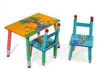 Столик с двумя стульчиками Джунгли 2803-11