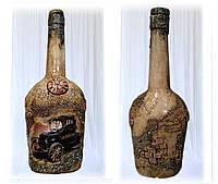 """Подарочная  бутылка """"Ретромобиль"""", подарок мужчине автолюбителю на день автомобилиста"""