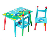 Столик с двумя стульчиками Грибочки W02-286