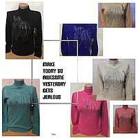 Кашемировый свитер плотный зима, фото 1