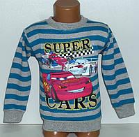 """Батник манжетом """"Super Cars"""" для мальчика 5,6,7,8,9 лет (начес)"""