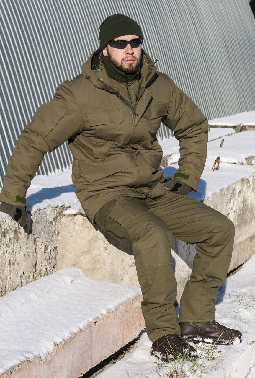 "Зимний Костюм-горка с подстежкой ""Тренд М-65"", 100%х/б палатка + синтепон"