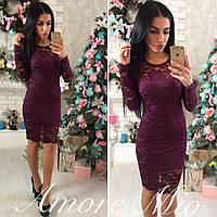 Красивое гипюровое короткое платье,разных цветов