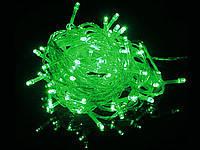 Гирлянда зеленая на микролампах 100 ламп., 7м.