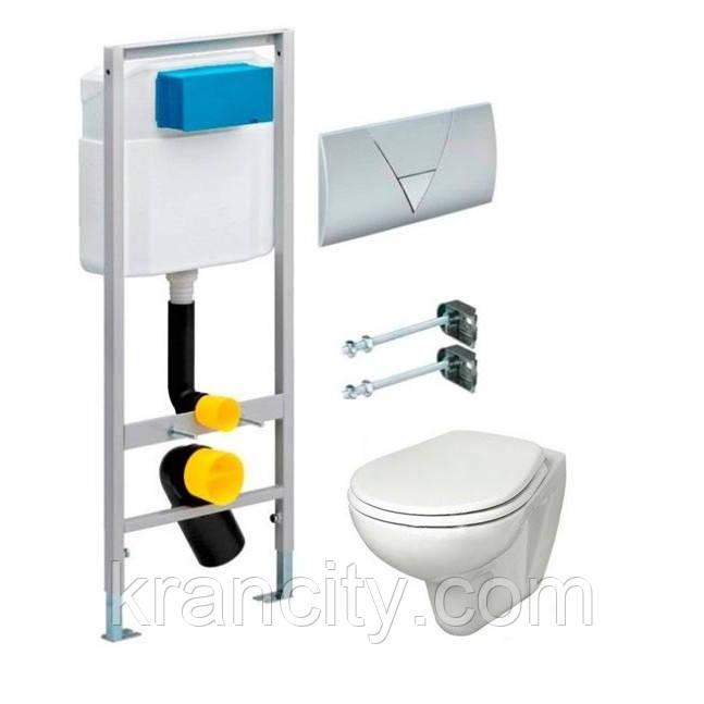 Комплект: унитаз подвесной Kolo IDOL, Viega Standart 3в1 673192 инсталляция, сидение soft close Pure