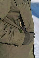 "Зимняя куртка на флисе ""Варяг"", олива, фото 3"