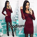 Женское стильное платье из кружева (3 цвета), фото 5