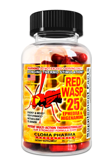 Cloma Pharma Red Wasp 75 caps
