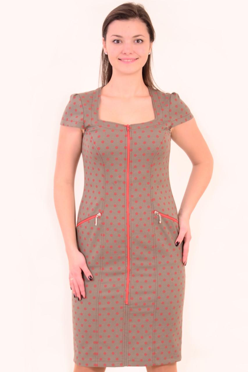 Платье женское в горошек , сарафан джинсовый , Пл 035-6, одежда для полной молодежи.