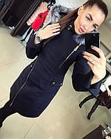 Женское стильное и теплое зимнее пальто на молнии (2 цвета)