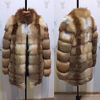 Шуба из меха лисицы, 80 см