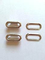 Блочка с кольцом овальная 20 мм - никель