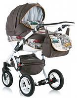 Детская коляска универсальная 2 в 1 Adamex Barletta World Collection Cars (Адамекс Барлетта)