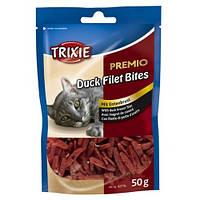 """Лакомство для кошки Trixie """"PREMIO Duck Filet Bites"""" филе утки сушеное, 50 гр"""