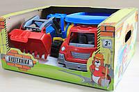 Стройтехника трактор, самосвал, подарочный набор машинок для мальчика тм Технок