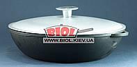 Жаровня чугунная 26х6см с алюминиевой крышкой ЭКОЛИТ (Украина), фото 1