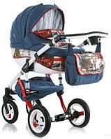 Детская коляска универсальная 2 в 1 Adamex Barletta World Collection Red Bus (Адамекс Барлетта)