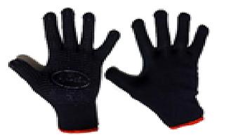 Перчатки с ПВХ точкой синие