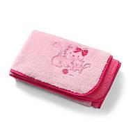 Двухстороннее мягкое плюшевое одеяло из микрофибры BabyOno, 75х100см, 0+, розовое