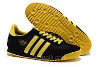 Мужские кроссовки Adidas Dragon черные с желтым