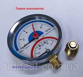 Термо-манометр радіальний 10 бар, фото 2