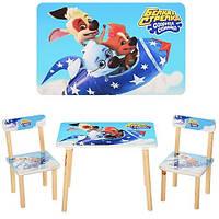 Детский столик с двумя стульями Белка и Стрелка