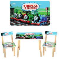 Детский столик с двумя стульями паровозик Томас