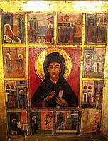 Икона Св. Ксения Петербургская с житием 19 век