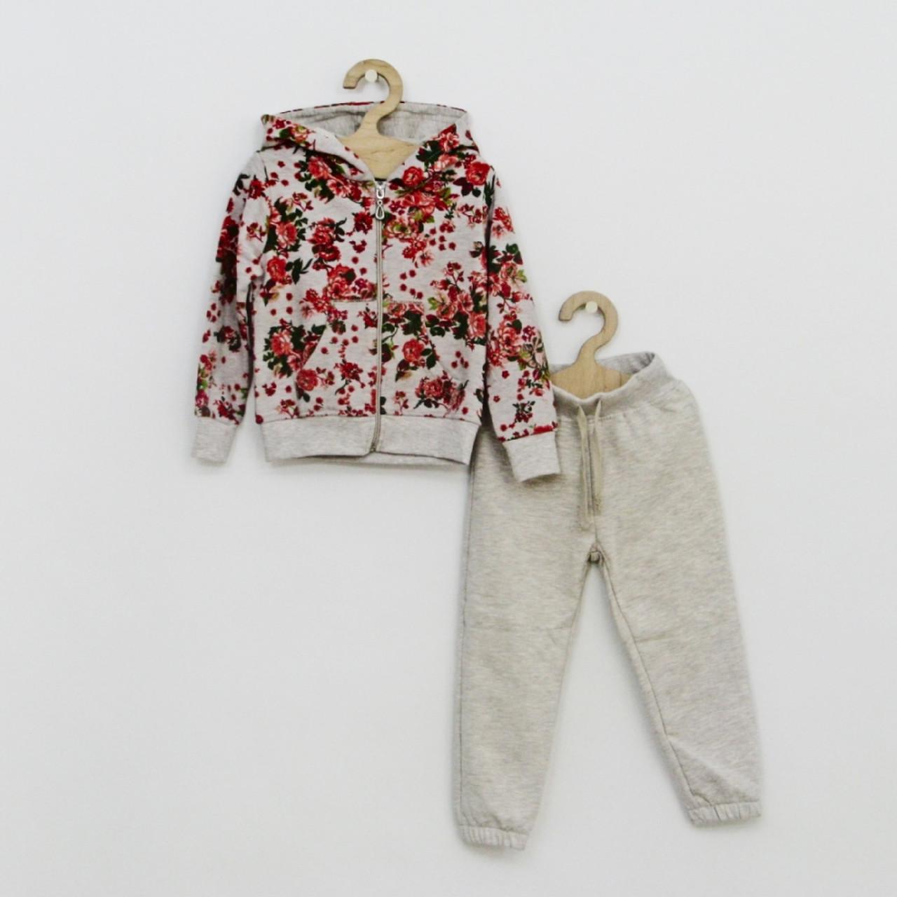 7c3e4006a871 Теплый спортивный костюм с цветочным рисунком для девочки - Любі діти в  Киевской области