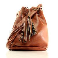 Женская сумка-торба коричневый