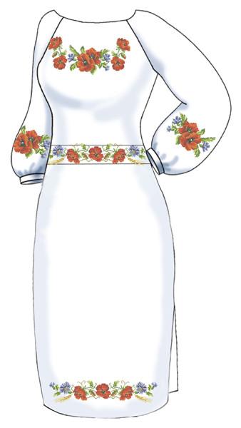 ВПЖ-47. Заготовка для вишивки бісером Жіноче плаття. 76088e2bc3f13