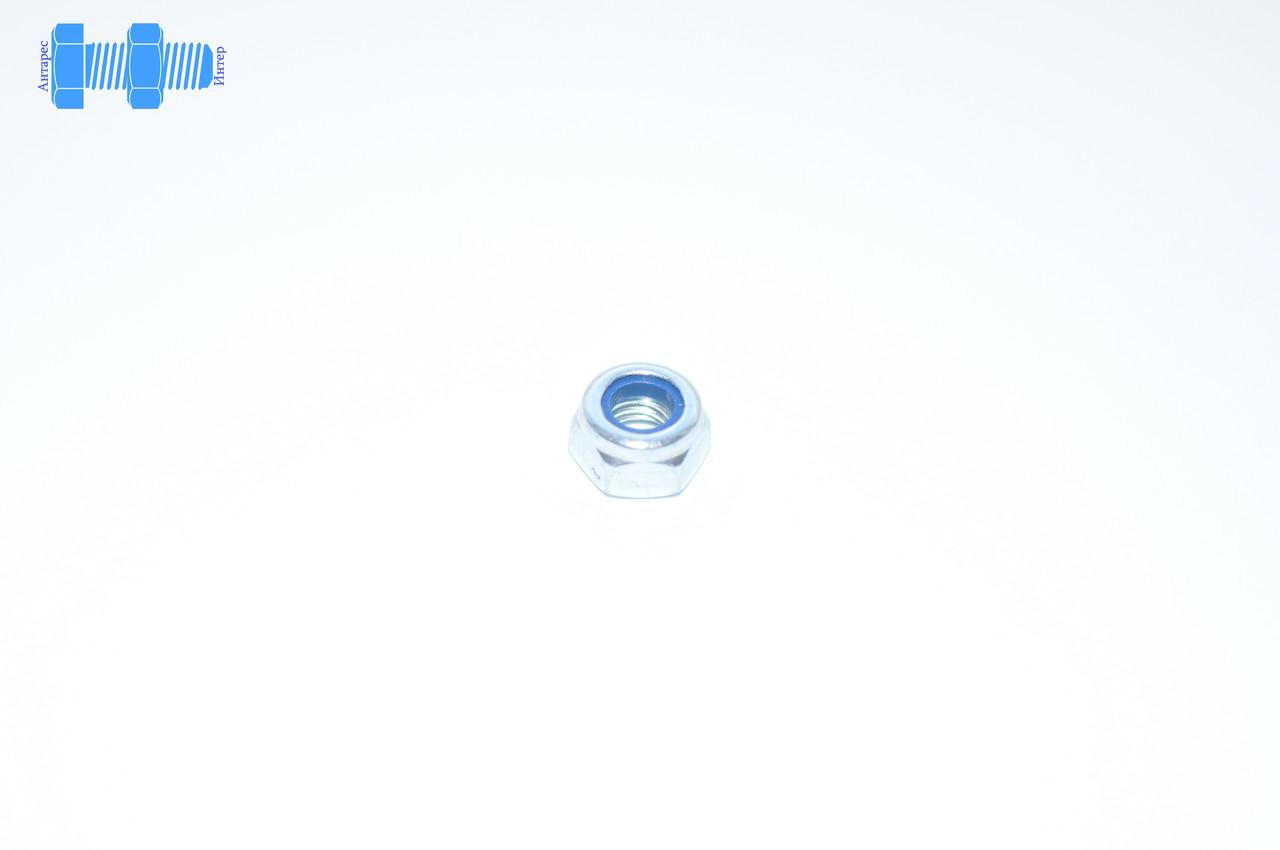 Гайка самоконтрящаяся М8 DIN 985 нержавеющая с нейлоновым кольцом