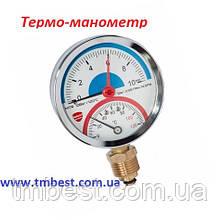 Термо-манометр радіальний 4 бару