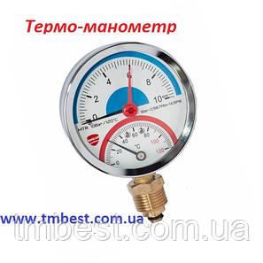 Термо-манометр радиальный 6 бар, фото 2