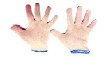 Перчатки х\б белый без точки