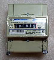 Электросчетчик однофазный ЦЭ 6807Б-U K 1,0 220В 5-60А М7Р5 на дин-рейку