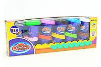 Пластилин для лепки «Color Dough» (12 баночек)