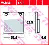Тормозные колодки TRW / LUCAS MCB531