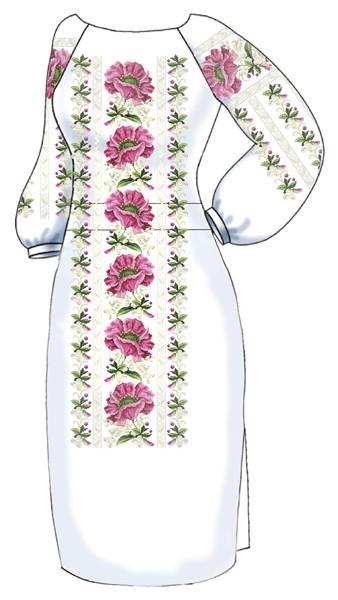 ВПЖ-49. Заготовка для вишивки бісером Жіноче плаття. 2ec71452516b4