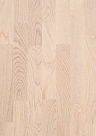 Паркетная доска BeFag Дуб Натур, белый лак (3-х полосник)