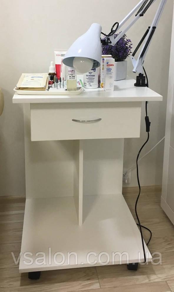 Візок косметологічна, пересувний столик з ящиком А37